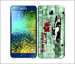 Galaxy Printed 1723 Christian Rider Burn Ruber Hard Cover for Samsung ACE 3 (7272)