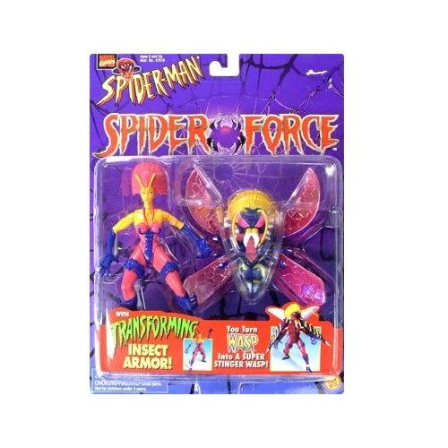 Spider-Man: The Animated Series Spider Force Wasp Action Figure