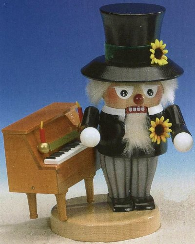 2011 Signed Steinbach Musical Pianist German Nutcracker