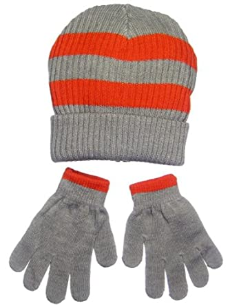 Amazon.com: Toddler Boys Striped Sweater Winter Hat and