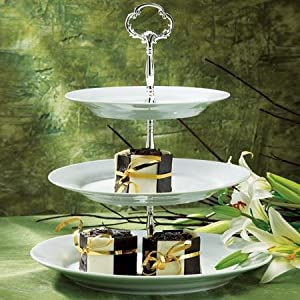 3 TIER PORCELAIN PLATES CENTERPIECE - Dinnerware