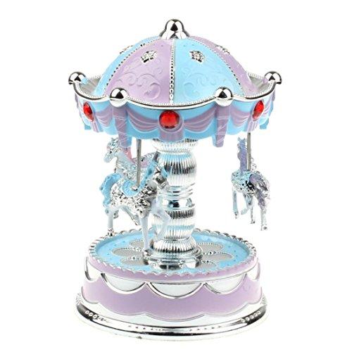 Fortan Merry-Go-Round Music Box di Natale regalo di compleanno Carousel Music Box (Go Round Box Musica)