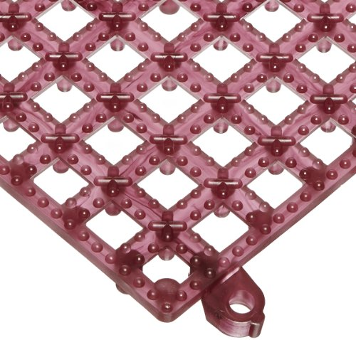 "San Jamar Vm5280 Versa-Mat Interlocking Bar Mat, 12"" Length X 12"" Width, Wine (Pack Of 12) front-296195"