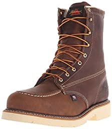 Thorogood Men\'s American Heritage 8 Inch Safety Toe Lace-up Boot, Brown, 10.5 D US