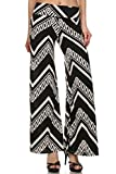 Womens High Waist Stretch Printed Palazzo Pants