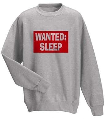WANTED: SLEEP Adult Sweatshirt (Crewneck) ASH GREY SMALL [Apparel]