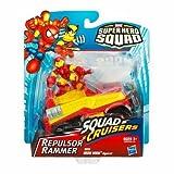 2009 Marvel Super Hero Squad SQUAD CRUISERS REPULSOR RAMMER w/IRON MAN FIGURE