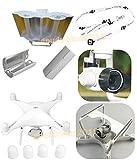 gouduoduo2018 DJI Phantom 4 Antenna Range Booster + Camera Gimbal Guard Protector + Camera Lens Sun Hood Cap + Motor guards + Neck strap