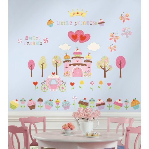 New Cupcake Land 56 Wall Stickers Princess Castle Decals front-564121