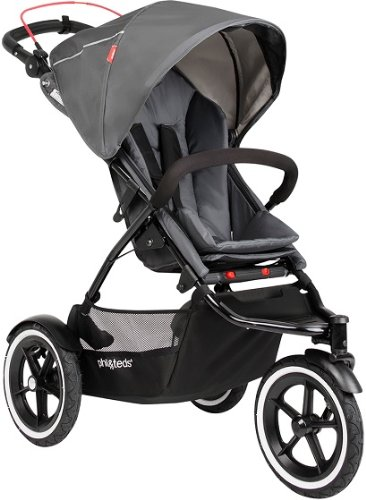 Phil & Teds Inline Graphite Compact Navigator Child Stroller W/ Auto Brake front-1013572