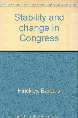 Stability and change in Congress PDF
