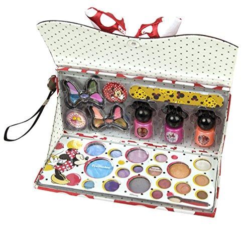 Disney, Minnie Mouse A Fashionista, Trousse trucchi, incl. Smalti unghie, ombretti e lucidalabbra