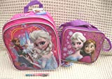 Frozen Olfa, Anna, and Olfa 10 Backpack and Matching Lunch Bag Lunch Box and Frozen Pen (Random Style)-brand New!