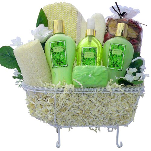 Essence of Jasmine Spa Bath and Body Gift Basket Set