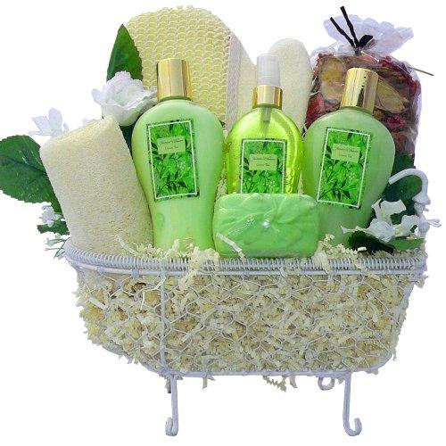 Art of Appreciation Gift Baskets Essence of Jasmine Bathtub Spa, Bath & Body Set