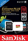 SanDisk Extreme Plus 32 GB microSDHC Class 10 UHS-I Memory Card with Adapter (SDSDQX-032G-U46A)