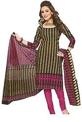 Sanjeeban Fashion Studio Women's Cotton Dress Material (FE_68_Multi-Coloured_Free Size)