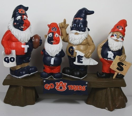 Auburn Tigers NCAA Fan Gnome Bench