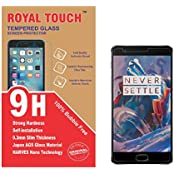 Royal Touch (TM) OnePlus 3 Tempered Glass Screen Protector 100% Bubble Free Edge To Edge Cover Japanese AGC Glass