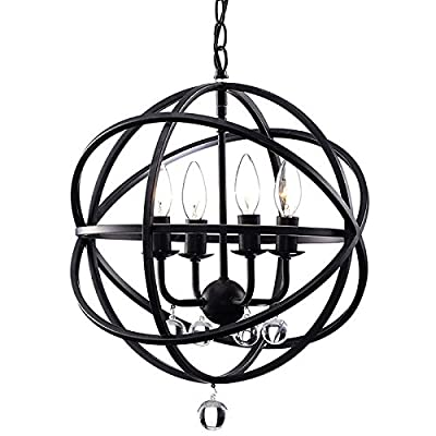 (Ship from USA) Modern Crystal 4 Light Orb Chandelier Globe Pendant Sphere Lamp Ceiling Lighting /ITEM NO#8Y-IFW81854253352