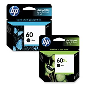 HP 60XL- Ink Cartridge, For D2530/D2560/F4280, 600 Page Yield, Black