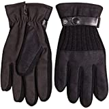 Warmen Men's Touchscreen Texting Gloves Stretch Nano Tech for Iphone Smartphone - Genuine Leather Belt - Super Warm