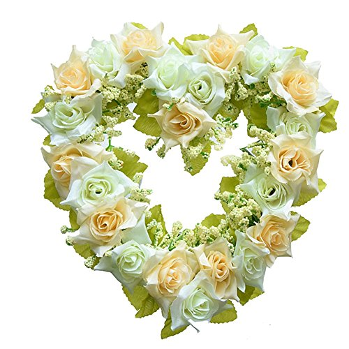Lingstar Simulated Heart-shape Garland for Wedding Car Home Room Garden Decoration