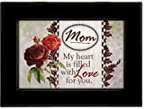 Mom Mother My Heart Love Black Cottage Garden Traditional Music Box Plays Light Up My Life