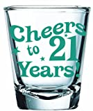 Big Mouth Toys Cheers to 21 Years Shot Glass