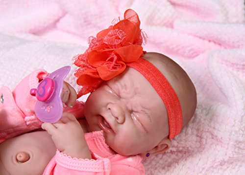 Crying Baby Cute Girl Ahhhh! Berenguer Life Like ,Reborn Preemie Pacifier Doll +Extras 14