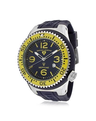 Swiss Legend Men's 21818S-C-MW Neptune Navy Blue Dial Navy Blue Silicone Watch