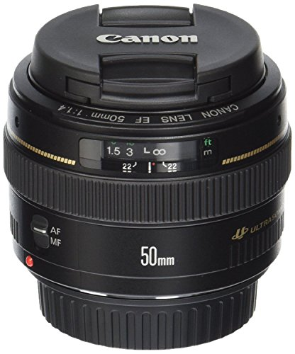 Canon EF 50mm f/1.4 USM Standard & Medium Telephoto Lens for Canon SLR Cameras - Fixed(Certified Refurbished) (Canon Ef 16 35 F4 compare prices)