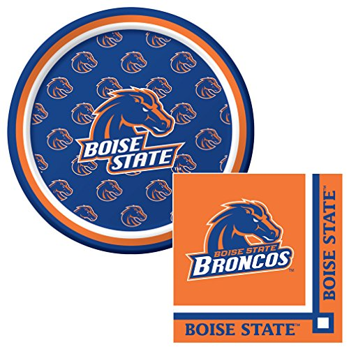 Boise State University Collegiate Dessert Napkins & Plates Party Kit for 8