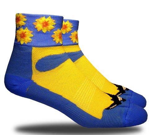 RHINO SOCKS SS series, Sunflower, bky blue/yellow, anklet sports cycling biking hiking running socks