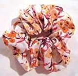 Tangerine Floral Print Voile Regular