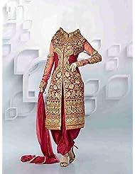 Mega Wholesale Bazaar Super Seller Georgette Semistitched Dress Material - B015727V70