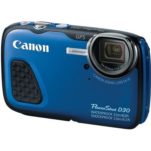 Canon-PowerShot-D30-Waterproof-Digital-Camera-Blue-International-Version-No-warranty