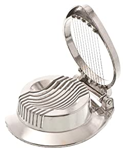 Browne Foodservice 230 Die-Cast Aluminum Single Egg Slicer, Polished Finish, 4-1 2-Inch by Browne Foodservice
