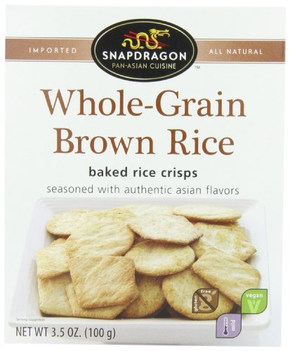 Snapdragon Brown Rice Baked Crisps, Whole Grain, 3.5-Ounce (Pack Of 6)