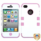 Product B0094QITVS - Product title MYBAT IPHONE4AVHPCTUFFSO030NP Premium TUFF Case for iPhone 4 - 1 Pack - Retail Packaging - Ivory White/Light Pink