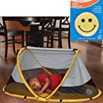 KidCo PeaPod Portable Travel Bed - Sunshine with Happy Face Night Light