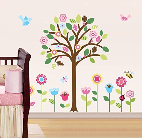 CherryCreek Decals CherryCreek Decals Giant Spring Flower Garden & Tree