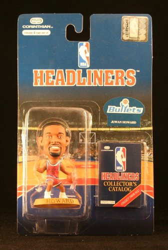 JUWAN HOWARD / WASHINGTON BULLETS * 3 INCH * 1996 NBA Headliners Basketball Collector Figure - 1