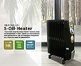 加湿オイルヒーター 10畳 加湿機能搭載 1台2役 オイルラジエターヒーター 電気代節約型のS字ライン オイルヒーター