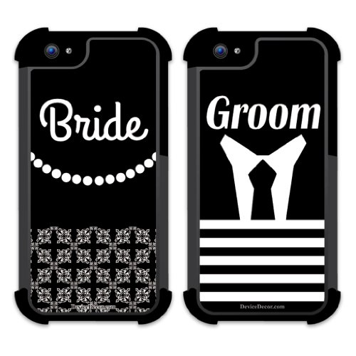 iPhone 5 BruteBoxTM Case Set of 2 – Wedding – Bride and Groom – 2 Part Rubber and Plastic Protective Case