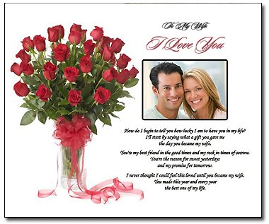 Romantic Wedding Gift For Husband : ... Love You Gift for Wife or Birthday Gift for Wife Gift