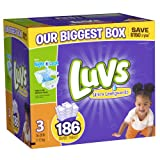 Luvs With Ultra Leakguards Size 3 Diapers 186 Count