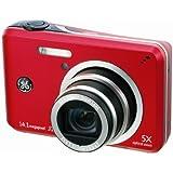 GE デジタルカメラ J1455 レッド J1455RD