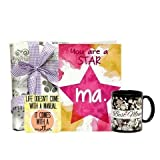 Star Maa Package - Mothers Day Card 1, Coaster 1, Coffee Mug 1, Mothers Day Gifts, Mothers Day Poster Online,...