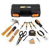 VonHaus 39 Piece DIY Hand Tool Set Kit Box with Hard Storage Case - Free 2 Year Warranty